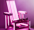 """""""Pink Electric Chair"""" by Ivan Navarro Courtesy"""
