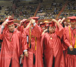 Turning their tassels from right to left, candidates transition from student to graduate.  File photo